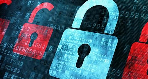 Network security uses virtual padlocks.