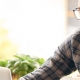 Man working remotely at home