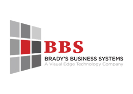 red and grey Brady's Business Systems logo