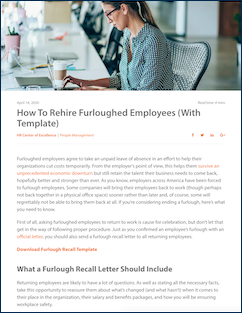 Rehire Furlough article from Paycor