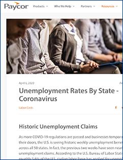 Paycor Unemployment Rates article