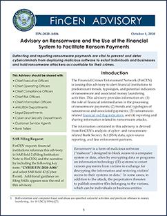 FinCEN Ransomware Advisory October 2020