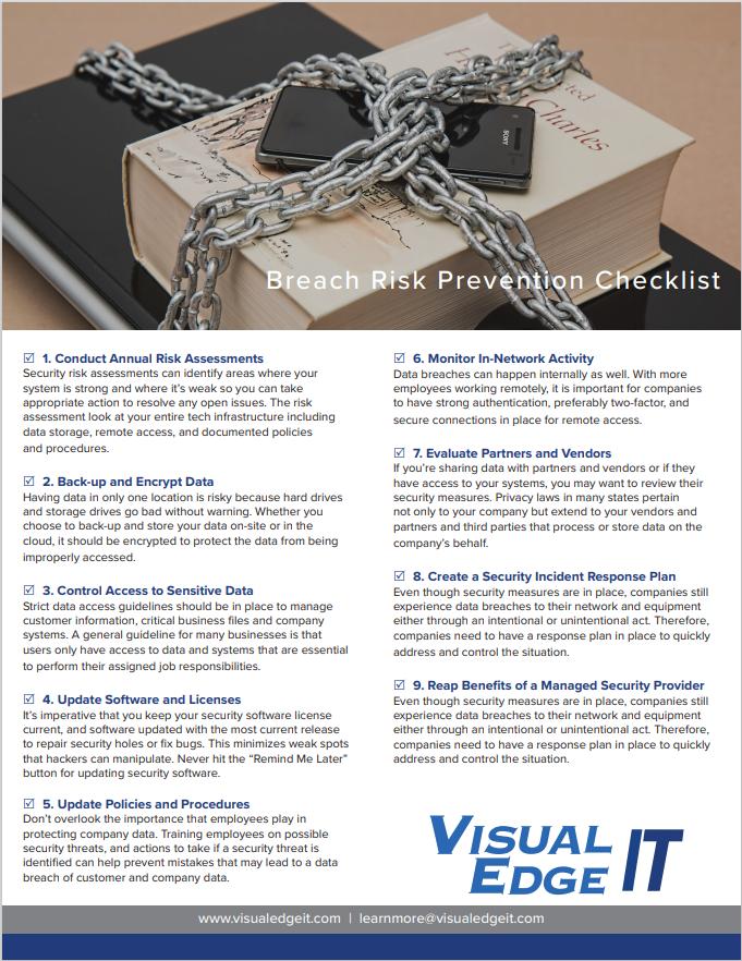 Breach Risk Checklist